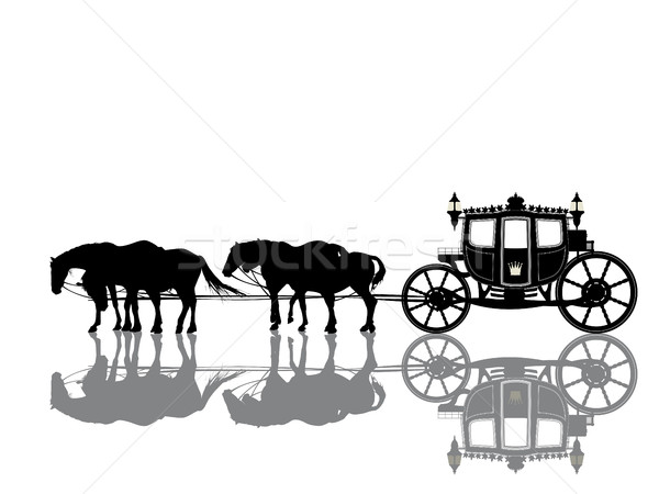 Antique royal coach Stock photo © lirch