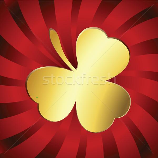 Golden lucky clover Stock photo © lirch