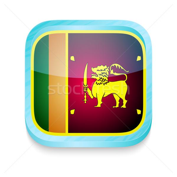 Knop Sri Lanka vlag telefoon frame Stockfoto © lirch
