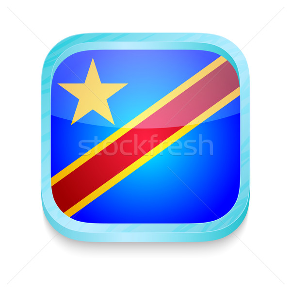 Smart phone button with Democratic Republic of Congo flag Stock photo © lirch