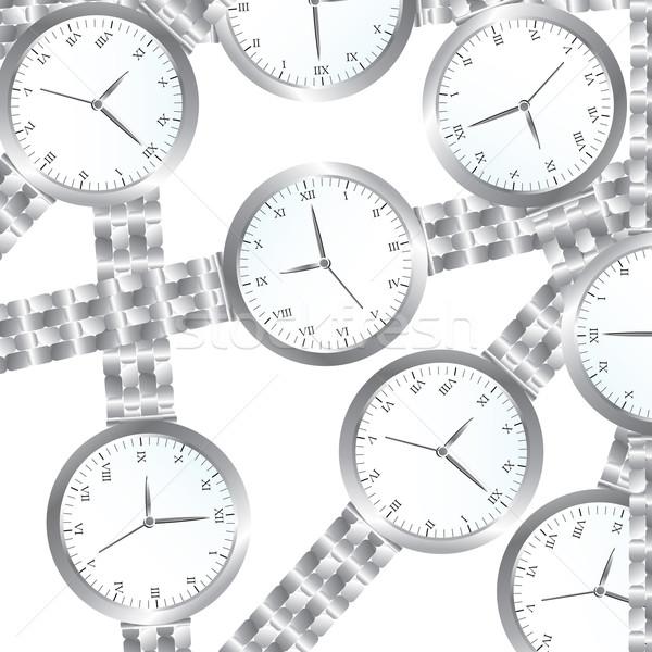 Stockfoto: Naadloos · pols · business · klok · tijd