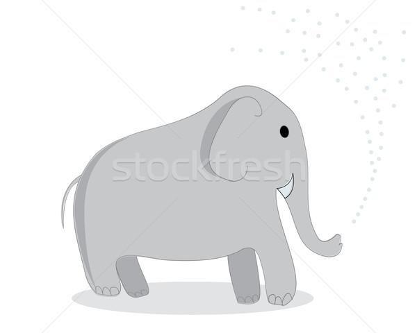 Sanat klibi fil yalıtılmış nesne beyaz göz Stok fotoğraf © lirch