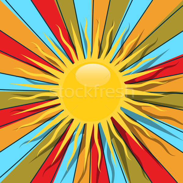 Retro sun Stock photo © lirch