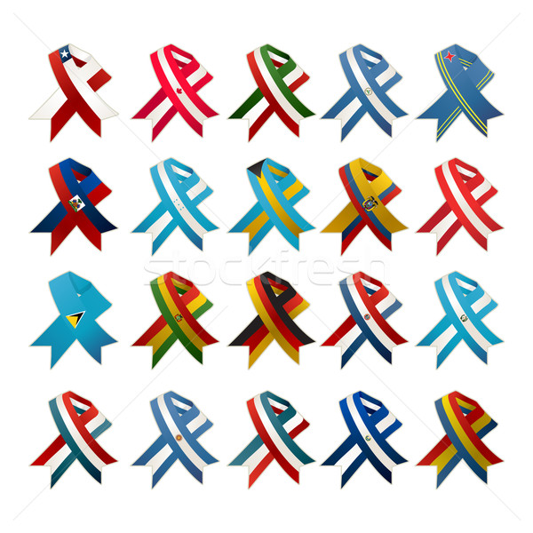 Country flag ribbons Stock photo © lirch
