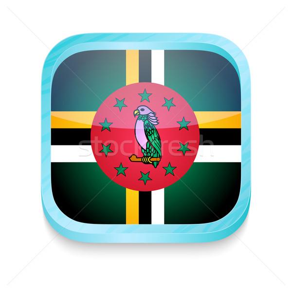 кнопки Доминика флаг телефон интернет Сток-фото © lirch