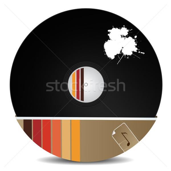Stylish vinyl record Stock photo © lirch
