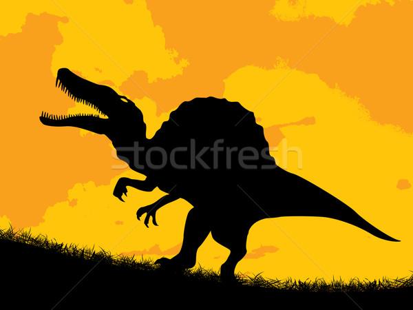 Dinosaur silhouette Stock photo © lirch