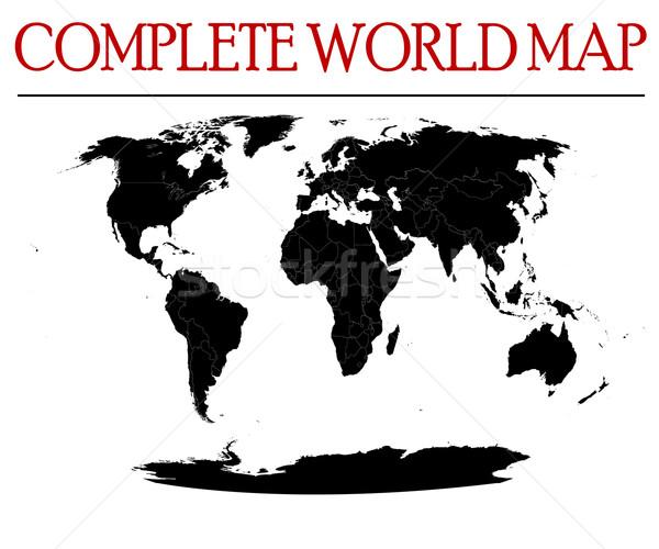 complete world map Stock photo © lirch