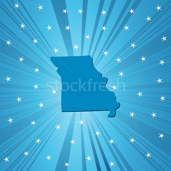 Blue Missouri map Stock photo © lirch
