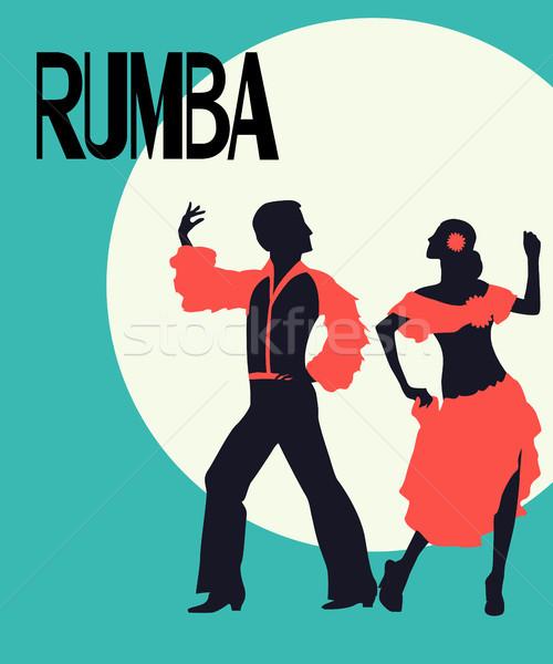 Rumba dancers card Stock photo © lirch
