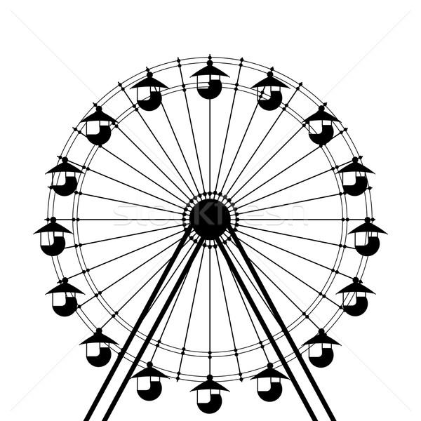 Ferris wheel icon Stock photo © lirch