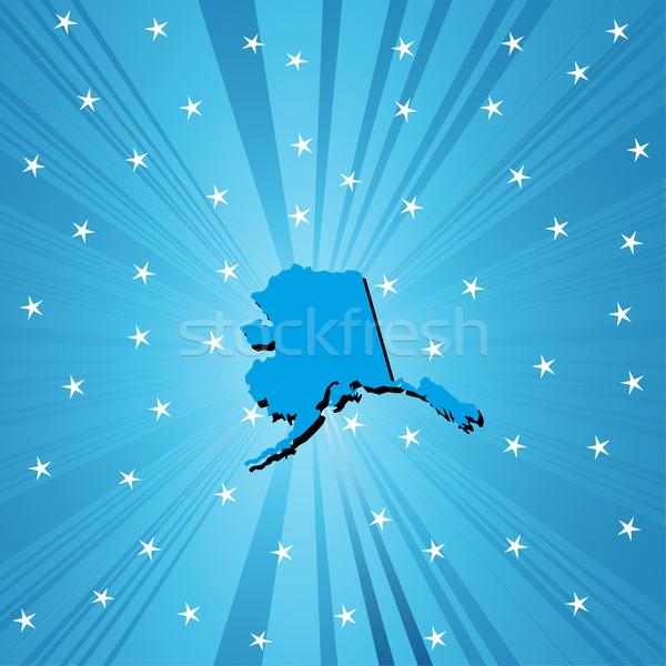 Bleu carte Alaska résumé ville fond Photo stock © lirch