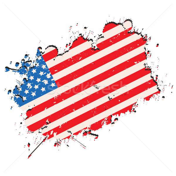 Grunge zászló Egyesült Államok Amerika stílus háttér Stock fotó © lirch