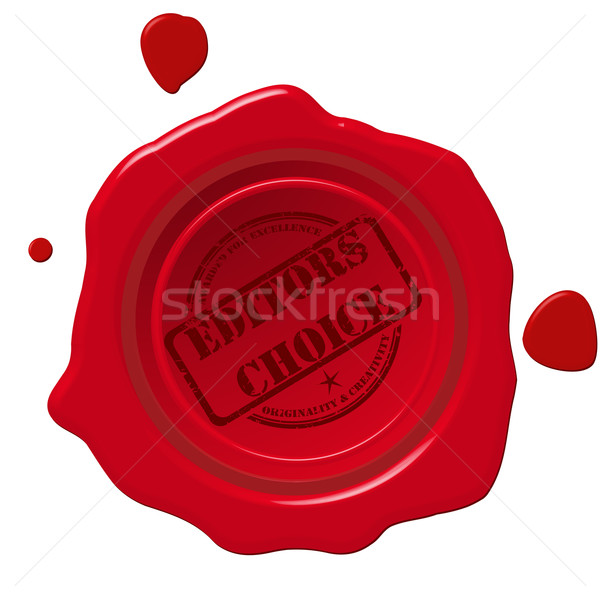 Editors choice seal Stock photo © lirch