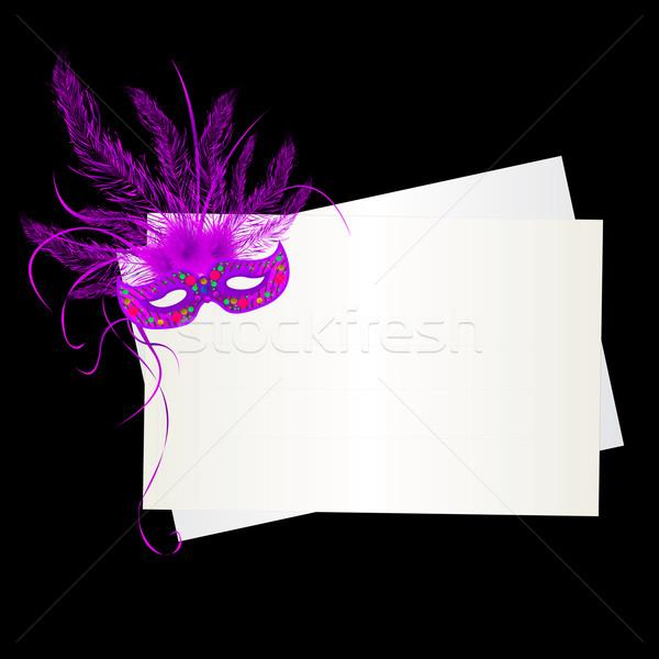 Mardi Gras purple mask Stock photo © lirch