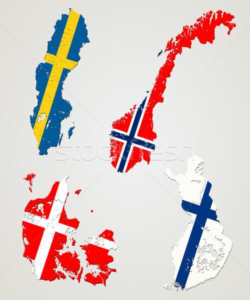 Nordic countries Stock photo © lirch