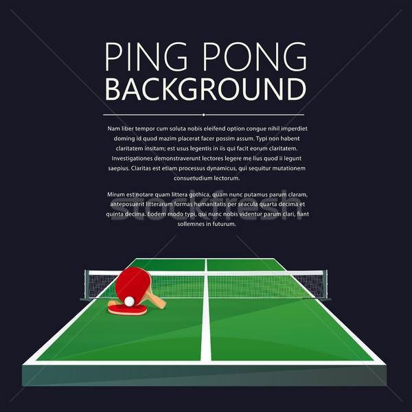 Ping Pong background Stock photo © lirch