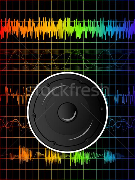 Photo stock: Rainbow · disco · résumé · orateur · fête · danse