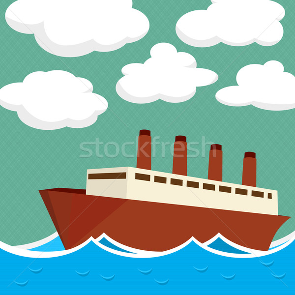 Buhar gemi örnek su dizayn Metal Stok fotoğraf © lirch