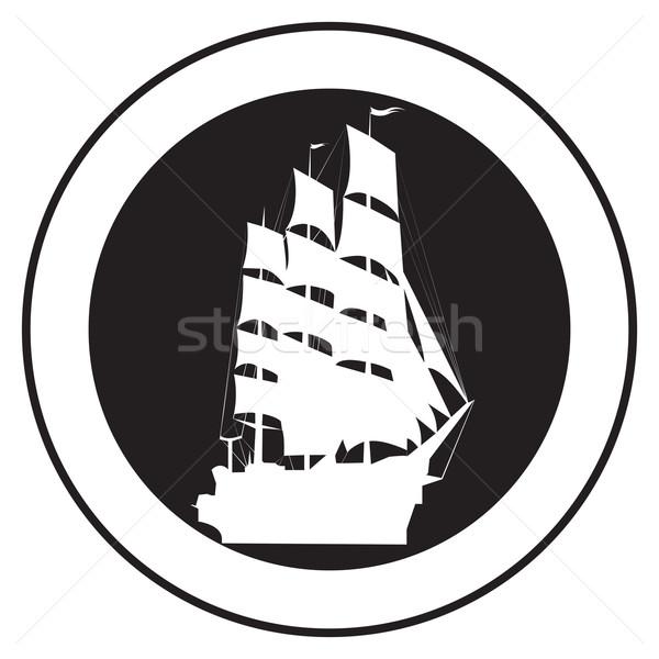 Emblem of an old ship 5 Stock photo © lirch