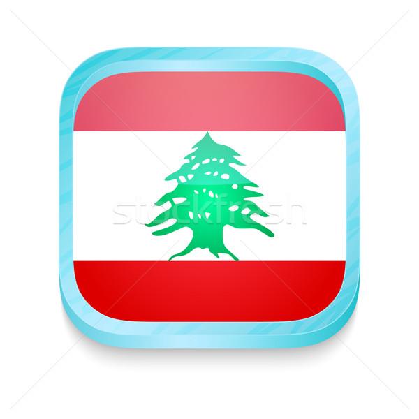 Okostelefon gomb Libanon zászló telefon keret Stock fotó © lirch