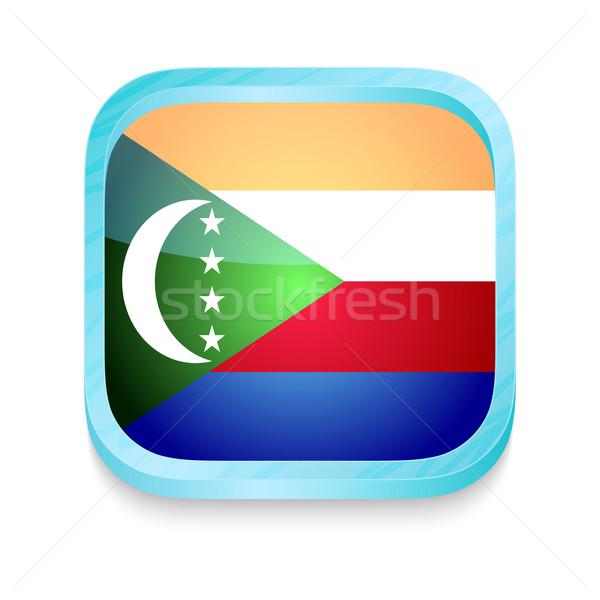 Smart phone button with Comoros flag Stock photo © lirch