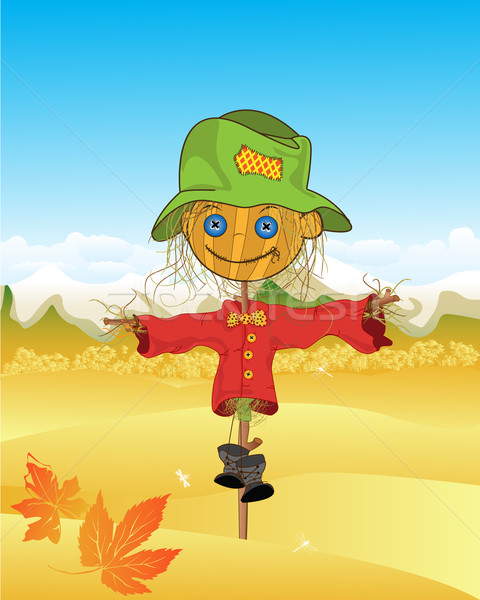Scarecrow background Stock photo © lirch