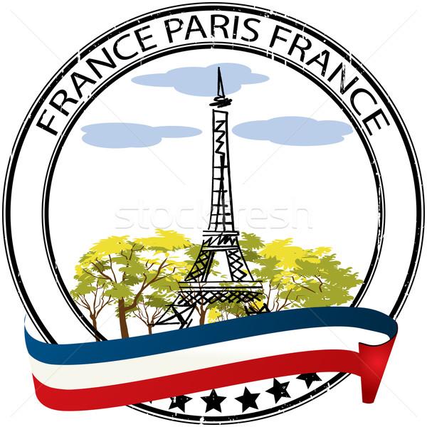 Paris stamp Stock photo © lirch