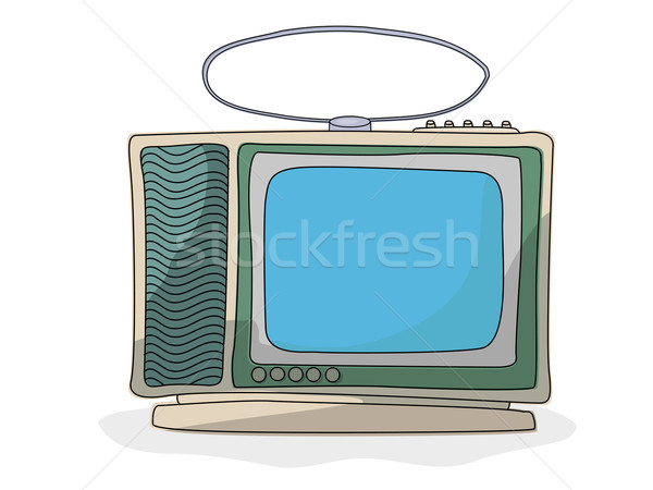 Retro cartoon  tv set Stock photo © lirch