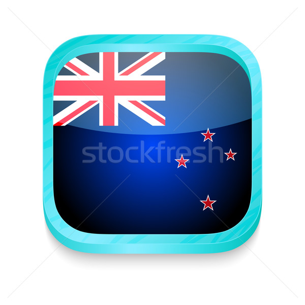Smart phone button with New Zealand flag Stock photo © lirch