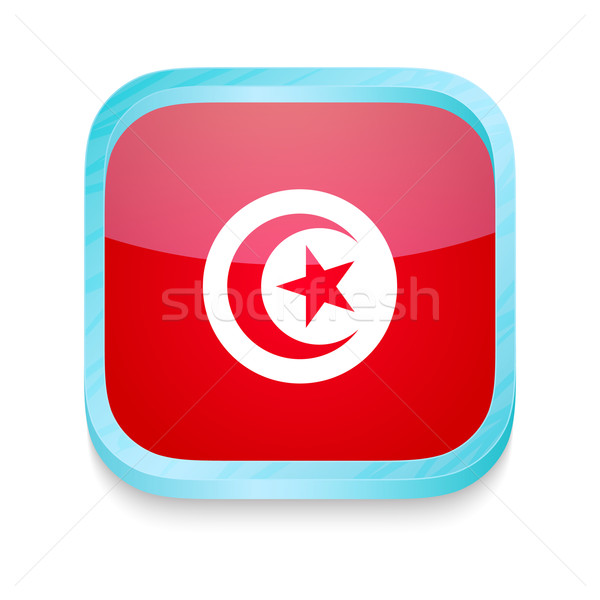 кнопки Тунис флаг телефон кадр Сток-фото © lirch