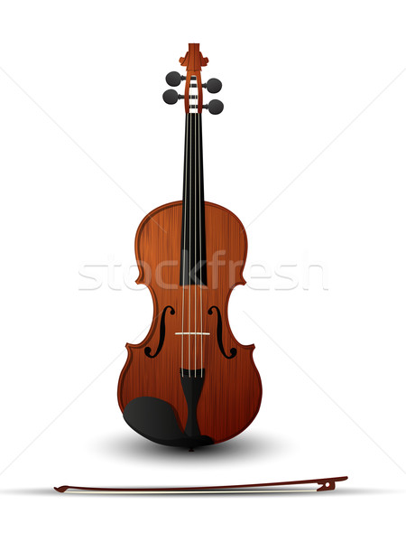 Violon arc blanche fond signe outils Photo stock © lirch