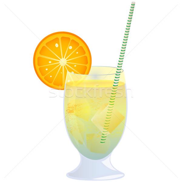 Cocktail arancione isolato oggetto bianco Foto d'archivio © lirch