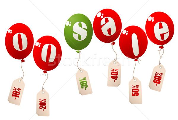 Vente ballons hélium prix détail Photo stock © lirch