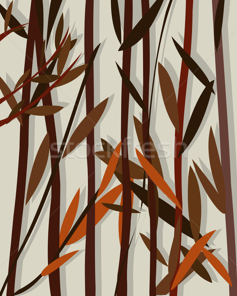 Autumn background willow Stock photo © lirch