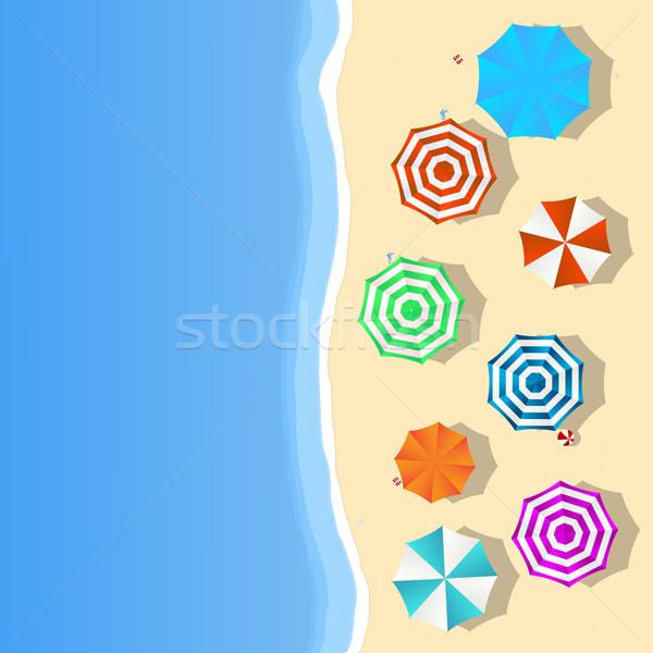 Plaj manzara yaz renkli Stok fotoğraf © lirch