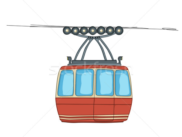 Cable-car on ropeway Stock photo © lirch
