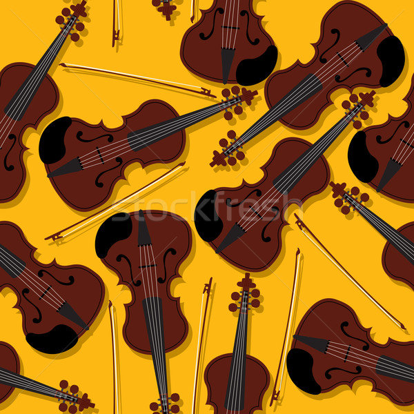 Violins and bow pattern Stock photo © lirch