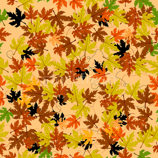 Stock photo: Leaves seamless