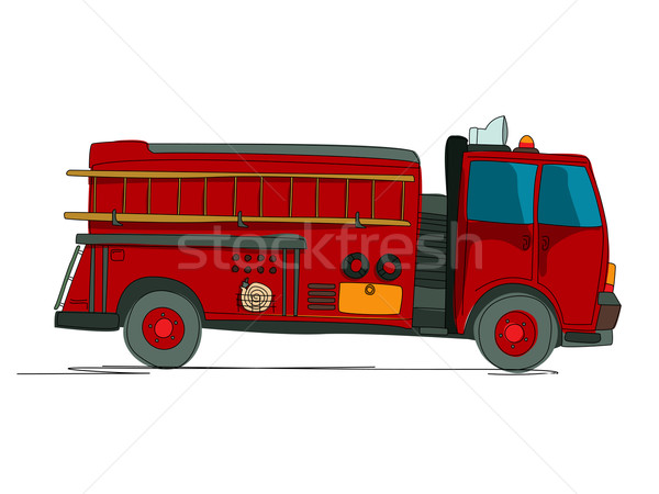 Fire truck cartoon Stock photo © lirch
