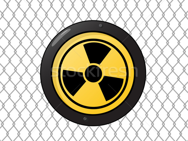 Metallic nuclear sign Stock photo © lirch