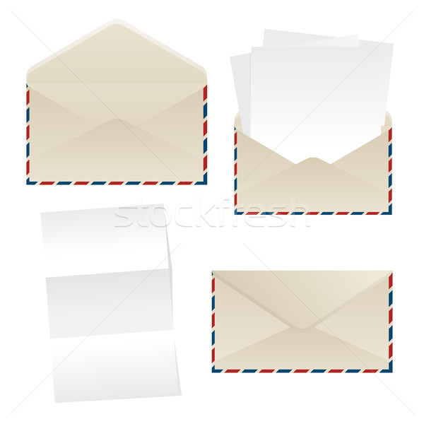 Envelope and paper sheets Stock photo © lirch