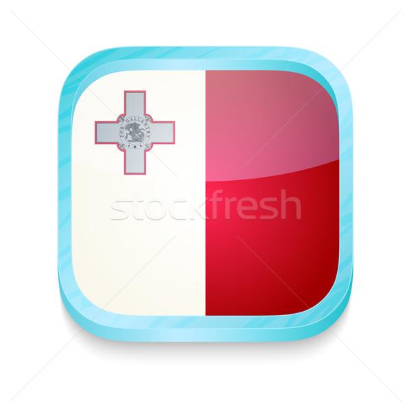 Pulsante Malta bandiera telefono frame Foto d'archivio © lirch
