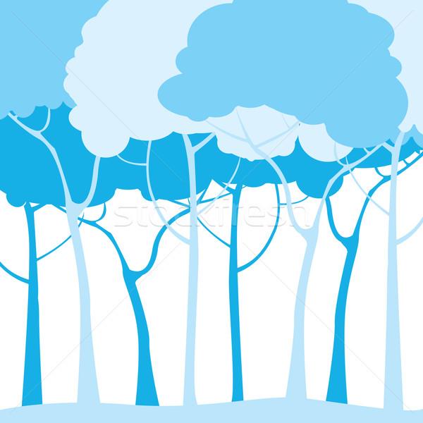 blue trees Stock photo © lirch