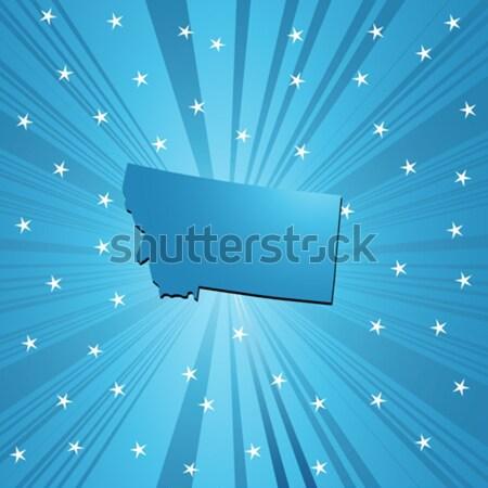 Blue Kentucky map Stock photo © lirch