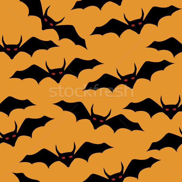 Happy halloween  seamless  bat pattern Stock photo © lirch