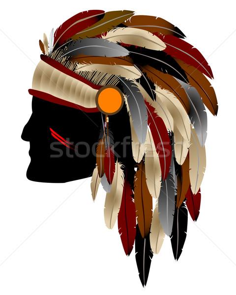 Nativo american indian capo isolato oggetto Foto d'archivio © lirch