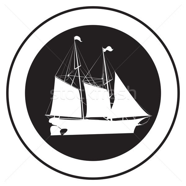 Emblem of an old ship 3 Stock photo © lirch