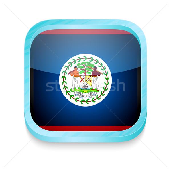 Okostelefon gomb Belize zászló telefon háttér Stock fotó © lirch