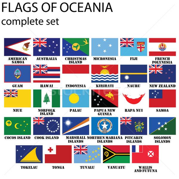 флагами Океания оригинальный цветами Сток-фото © lirch